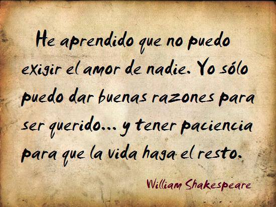 frase amor shakespeare