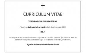 ¿Buscas trabajo? Entierra tu Curriculum Vitae